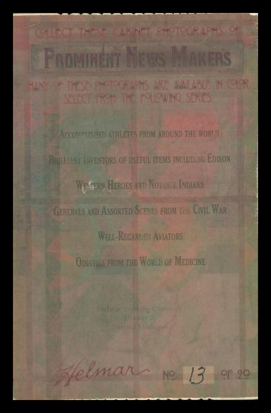 Helmar Brewing Image for Series Daredevil Newsmakers, back of card