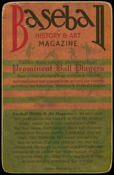 Helmar Brewing Image for Series Helmar Brewing Co. Cabinet, back of card
