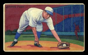 Picture of Helmar Brewing Baseball Card of Jimmie FOXX, card number 11 from series Boston Garter Game of the Century