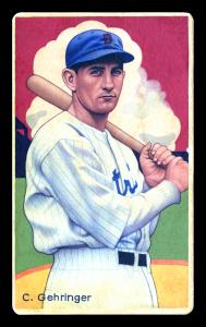 Picture of Helmar Brewing Baseball Card of Charlie GEHRINGER, card number 12 from series Boston Garter Game of the Century