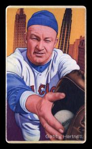 Picture of Helmar Brewing Baseball Card of Gabby HARTNETT, card number 28 from series Boston Garter Game of the Century
