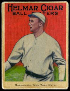 Picture of Helmar Brewing Baseball Card of Christy MATHEWSON (HOF), card number 104 from series E145-Helmar
