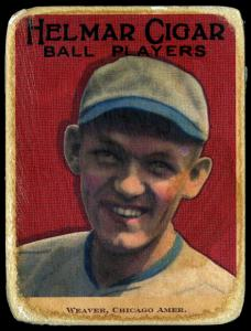 Picture of Helmar Brewing Baseball Card of Buck Weaver, card number 29 from series E145-Helmar