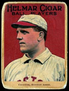 Picture of Helmar Brewing Baseball Card of Eddie Cicotte, card number 43 from series E145-Helmar