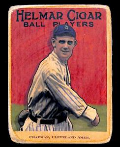 Picture of Helmar Brewing Baseball Card of Ray Chapman, card number 44 from series E145-Helmar