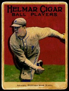 Picture of Helmar Brewing Baseball Card of Babe Adams, card number 55 from series E145-Helmar