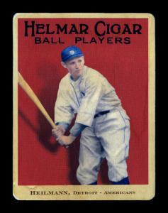 Picture of Helmar Brewing Baseball Card of Harry HEILMANN (HOF), card number 6 from series E145-Helmar