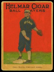 Picture of Helmar Brewing Baseball Card of George DAVIS (HOF), card number 99 from series E145-Helmar