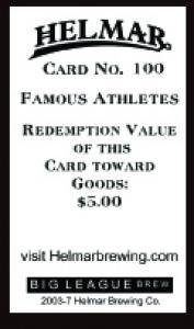 Picture, Helmar Brewing, Famous Athletes Card # 100, Chick Gandil, Portrait, Fort Bayard Veterans