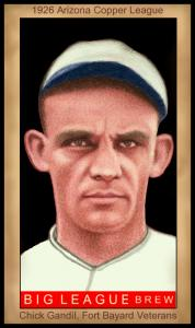 Picture of Helmar Brewing Baseball Card of Chick Gandil, card number 100 from series Famous Athletes