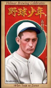 Picture of Helmar Brewing Baseball Card of Charlie GEHRINGER, card number 101 from series Famous Athletes