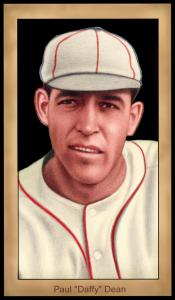 Picture of Helmar Brewing Baseball Card of Daffy Dean, card number 104 from series Famous Athletes