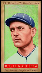 Picture of Helmar Brewing Baseball Card of Buck Weaver, card number 109 from series Famous Athletes