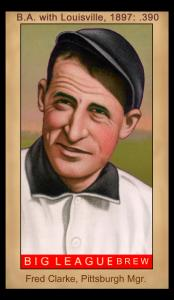 Picture, Helmar Brewing, Famous Athletes Card # 122, Fred CLARKE (HOF), Portrait, Pittsburgh Pirates