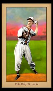 Picture of Helmar Brewing Baseball Card of Pete Gray, card number 130 from series Famous Athletes