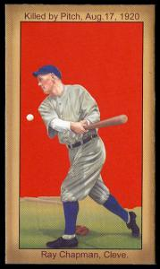 Picture of Helmar Brewing Baseball Card of Ray Chapman, card number 13 from series Famous Athletes