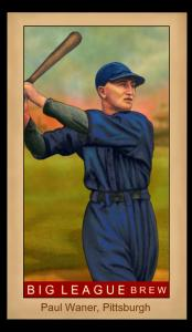 Picture of Helmar Brewing Baseball Card of Paul WANER (HOF), card number 156 from series Famous Athletes
