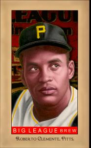 Picture of Helmar Brewing Baseball Card of Roberto CLEMENTE, card number 166 from series Famous Athletes