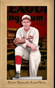 Picture of Helmar Brewing Baseball Card of Daffy Dean, card number 171 from series Famous Athletes