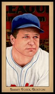 Picture of Helmar Brewing Baseball Card of Jimmie FOXX, card number 179 from series Famous Athletes