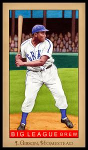Picture of Helmar Brewing Baseball Card of Josh GIBSON (HOF), card number 181 from series Famous Athletes