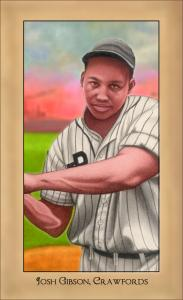 Picture of Helmar Brewing Baseball Card of Josh GIBSON (HOF), card number 182 from series Famous Athletes