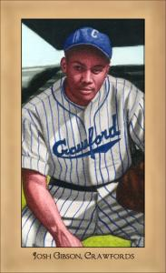 Picture of Helmar Brewing Baseball Card of Josh GIBSON (HOF), card number 183 from series Famous Athletes