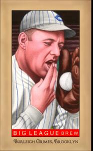 Picture of Helmar Brewing Baseball Card of Burleigh GRIMES (HOF), card number 188 from series Famous Athletes