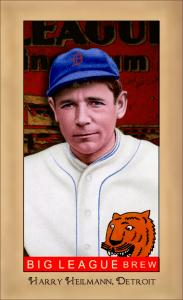 Picture of Helmar Brewing Baseball Card of Harry HEILMANN (HOF), card number 193 from series Famous Athletes