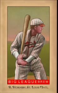Picture of Helmar Brewing Baseball Card of Rogers HORNSBY (HOF), card number 197 from series Famous Athletes