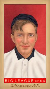 Picture of Helmar Brewing Baseball Card of Christy MATHEWSON (HOF), card number 211 from series Famous Athletes