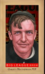 Picture of Helmar Brewing Baseball Card of Christy MATHEWSON (HOF), card number 212 from series Famous Athletes