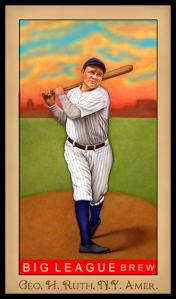 Picture of Helmar Brewing Baseball Card of Babe RUTH (HOF), card number 233 from series Famous Athletes