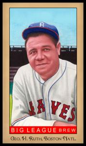 Picture of Helmar Brewing Baseball Card of Babe RUTH (HOF), card number 234 from series Famous Athletes