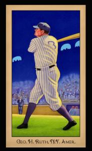 Picture of Helmar Brewing Baseball Card of Babe RUTH (HOF), card number 236 from series Famous Athletes
