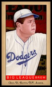 Picture of Helmar Brewing Baseball Card of Babe RUTH (HOF), card number 237 from series Famous Athletes