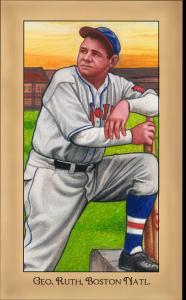 Picture of Helmar Brewing Baseball Card of Babe RUTH (HOF), card number 238 from series Famous Athletes