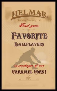 Picture, Helmar Brewing, Famous Athletes Card # 253, Honus WAGNER (HOF), Batting full figure dark gray uni, Pittsburgh Pirates