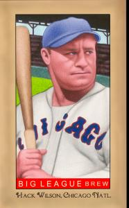 Picture of Helmar Brewing Baseball Card of Hack WILSON, card number 262 from series Famous Athletes