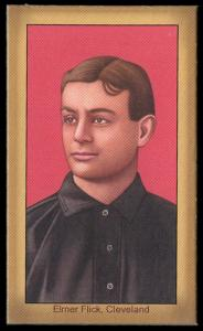 Picture of Helmar Brewing Baseball Card of Elmer FLICK (HOF), card number 26 from series Famous Athletes