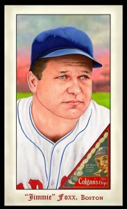 Picture of Helmar Brewing Baseball Card of Jimmie FOXX, card number 272 from series Famous Athletes