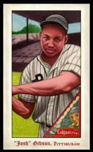 Picture of Helmar Brewing Baseball Card of Josh GIBSON (HOF), card number 275 from series Famous Athletes