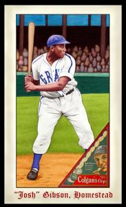 Picture of Helmar Brewing Baseball Card of Josh GIBSON (HOF), card number 276 from series Famous Athletes