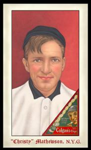 Picture of Helmar Brewing Baseball Card of Christy MATHEWSON (HOF), card number 282 from series Famous Athletes