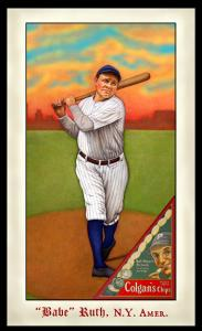 Picture of Helmar Brewing Baseball Card of Babe RUTH (HOF), card number 286 from series Famous Athletes
