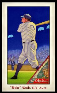 Picture of Helmar Brewing Baseball Card of Babe RUTH (HOF), card number 287 from series Famous Athletes