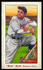 Picture of Helmar Brewing Baseball Card of Babe RUTH (HOF), card number 288 from series Famous Athletes