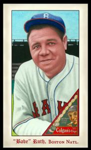 Picture of Helmar Brewing Baseball Card of Babe RUTH (HOF), card number 289 from series Famous Athletes