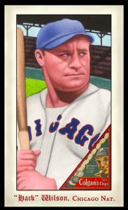 Picture of Helmar Brewing Baseball Card of Hack WILSON, card number 297 from series Famous Athletes