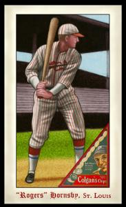 Picture of Helmar Brewing Baseball Card of Rogers HORNSBY (HOF), card number 298 from series Famous Athletes